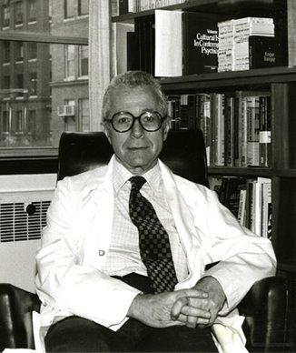 Dr. Thaler in his office, 1970s