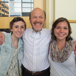 Katie and Mareesa with Dr. Korones