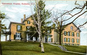 Hahnemann Hospital circa 1906 when J.R. Williams joined the staff