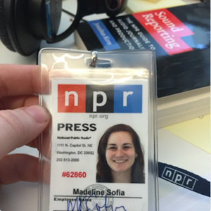 Maddie's Press Badge