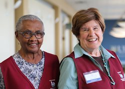 Friends of Strong volunteers Betty McClenney and Kay Prey