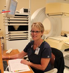 Cherie Truax, CNMT RT (R)(M), the nuclear med tech at Jones Memorial Hospital