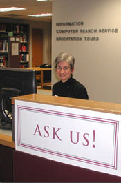 One of our many helpful librarians