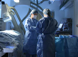 Dr Huang is showcased performing a procedure in the operating room of Strong Memorial Hospital