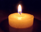 Photo of candle burning