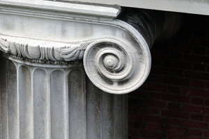 Architectural detail of column