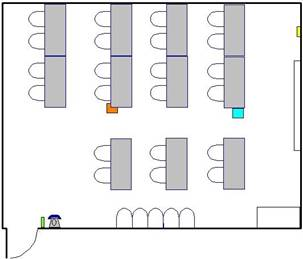 Room layout, SRB 1402