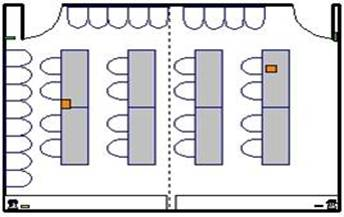 Room layout, SRB 4414 a/b