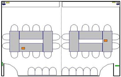 Room layout, SRB 2420