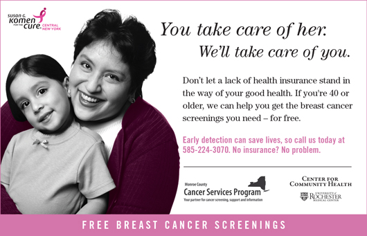 Cancer Services Program Breast Cancer Screening poster