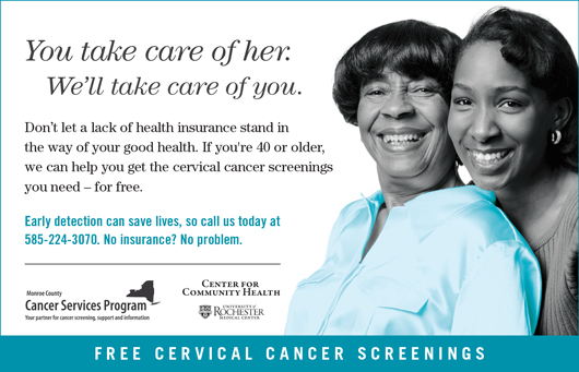 Cancer Services Program Cervical Cancer Screening poster