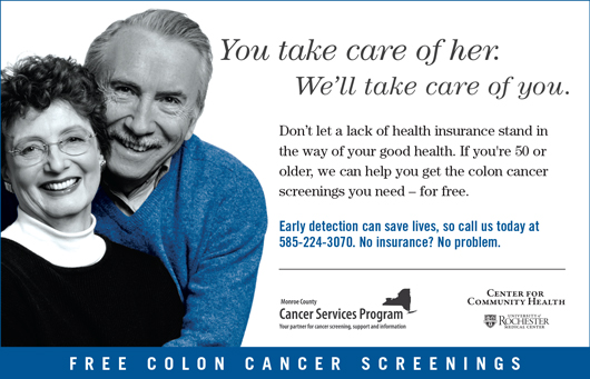 Cancer Services Program Colon Cancer Screening poster
