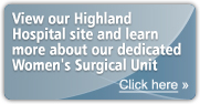 View our services available at Highland Hosptial