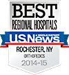 Best Regional Hospitals, U.S. News & World Report: Orthopedics 2014-15