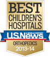Best Children's Hospitals, U.S. News & World Report: Orthopedics 2013-14