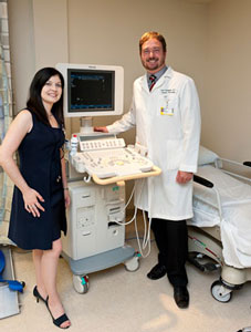 photo of Christina Clary and Dr. Holmquist