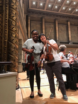 Monique Mendes and Patricia Sunwoo at Eastman Theatre