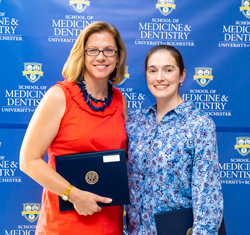 Martha Gdowski and Sarah McConnell at URMC Convocation 2018