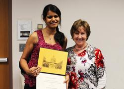 NGP student Revathi Balasubramanian and Dr. Barbara Davis