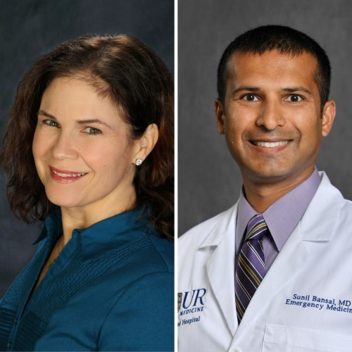 Highland Hospital is honoring Sunil Bansal, M.D., FACEP as Physician of the Year, and Andrea Avidano