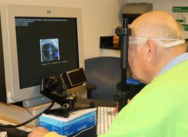 photo of a man working with the retraining task